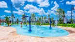 Splash pad with fountains that is great fun for everyone from Milan 3 Condo for rent in Orlando