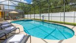 West facing pool & spa with no rear neighbours - www.iwantavilla.com is the best in Orlando vacation Villa rentals