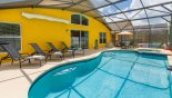 Spacious rental Veranda Palms Villa in Orlando complete with stunning Pool deck with 4 sun loungers