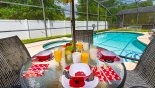 Alfresco dining - just perfect !! from Veranda Palms rental Villa direct from owner