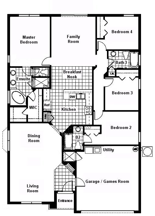 Cape San Blas 7 Floorplan