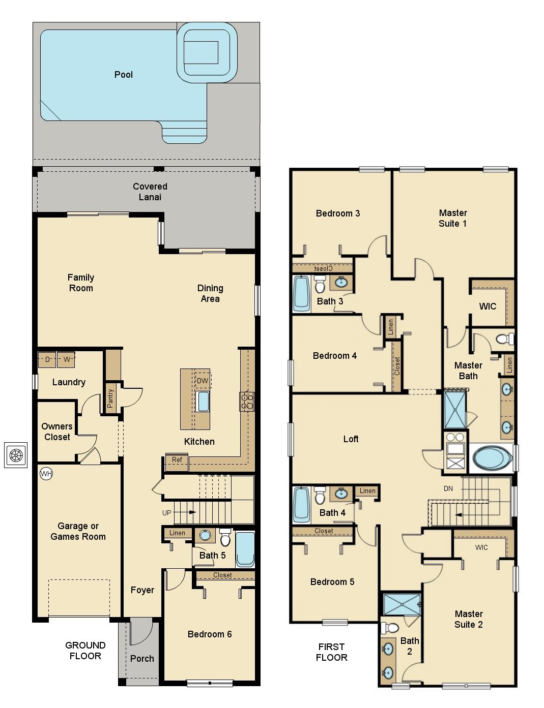 Majesty Palm 1 Floorplan