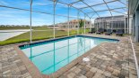 Luxury east facing private enclosed pool with 4 sun loungers from Maui 8 Villa for rent in Orlando