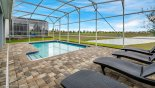 Villa rentals near Disney direct with owner, check out the View of private east facing pool and 4 comfortable sun loungers