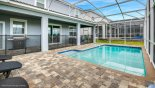 Private pool area with spacious pool deck and gas BBQ - www.iwantavilla.com is the best in Orlando vacation Villa rentals
