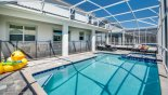 Villa rentals near Disney direct with owner, check out the Pool area with 4 luxury sun loungers