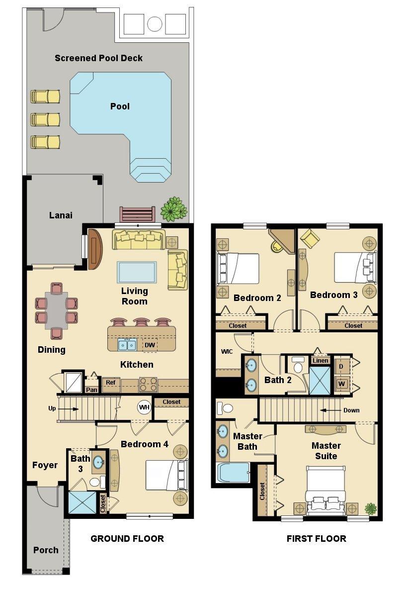 Beach Palm 6 Floorplan