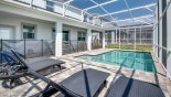 Spacious rental Champions Gate Villa in Orlando complete with stunning View from pool deck towards villa