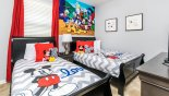 San Jose 1 Villa rental near Disney with Disney themed bedroom 3 with 2 twin beds and shared nightstand