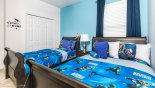 Villa rentals near Disney direct with owner, check out the Bedroom 4 with twin beds and walk in wardrobe - LCD cable TV out of view