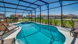 San Jose 1 Villa rental near Disney with Spacious pool deck with 4 comfortable sun loungers