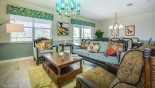Spacious rental Champions Gate Villa in Orlando complete with stunning Family room with seating for 5 people around coffee table