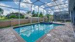 Maui 11 Villa rental near Disney with Large pool deck with south facing pool and raised spa