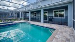 Lanai area overlooking the pool from Maui 11 Villa for rent in Orlando