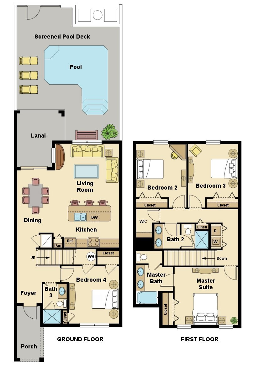 Beach Palm 4 Floorplan