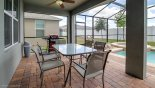 Villa rentals in Orlando, check out the Pool deck seating complete with free BBQ for you to use