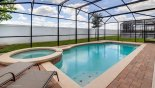 Villa rentals near Disney direct with owner, check out the South facing pool with raised spa and 2 comfortable sun loungers