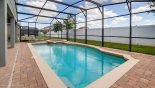 Large private enclosed south facing pool - www.iwantavilla.com is the best in Orlando vacation Villa rentals