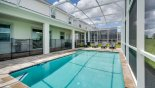 Large heated private pool - perfect for all year round with this Orlando Villa for rent direct from owner
