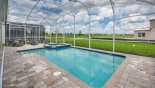 Private enclosed east facing pool with raised spa with this Orlando Villa for rent direct from owner