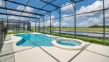 Extended pool & spa with open lake views - stunning !! from Solterra Resort rental Villa direct from owner