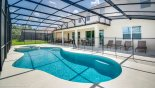 Pool deck with 4 sun loungers - additional 2 at other end of deck with this Orlando Villa for rent direct from owner