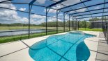 Montenegro 1 Villa rental near Disney with Massive 60' wide pool deck with south-east lake views