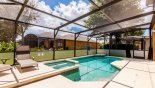 Villa rentals in Orlando, check out the Pool deck with 4 sun loungers - other 2 are under the lanai
