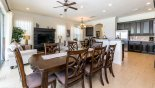 Crestview 6 Villa rental near Disney with Dining area with large dining table seating 8 persons