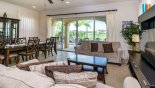 Villa rentals near Disney direct with owner, check out the View of family room with direct access onto pool deck