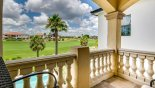 Spacious rental Reunion Resort Villa in Orlando complete with stunning Balcony off master 1 bedroom with spectacular golf course views