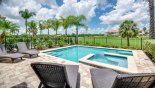Spectacular west facing pool & spa with golf course views from Crestview 6 Villa for rent in Orlando