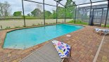 Sunny west facing pool with open views (no rear neighbours) from Lakeshore 1 Villa for rent in Orlando