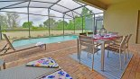 View of pool from covered lanai - www.iwantavilla.com is your first choice of Villa rentals in Orlando direct with owner
