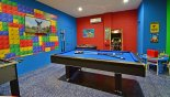 LEGO themed games room with pool table, air hockey, table foosball & arcade game - www.iwantavilla.com is your first choice of Villa rentals in Orlando direct with owner