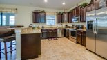 Fully fitted kitchen with quality appliances and granite counter tops from Fiji 7 Villa for rent in Orlando