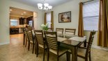 Villa rentals near Disney direct with owner, check out the Dining room viewed towards kitchen