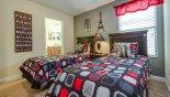 Villa rentals in Orlando, check out the Twin bedroom #4 viewed towards Jack & Jill bathroom #3