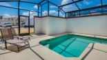 Beach Palm 9 Villa rental near Disney with Private enclosed east facing plunge pool with 2 comfortable sun loungers