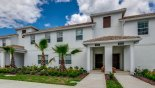 Spacious rental Champions Gate Villa in Orlando complete with stunning View of townhouse from street