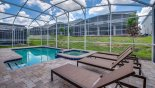 Villa rentals in Orlando, check out the Pool deck with 4 sun loungers