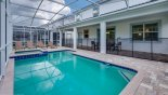 Villa rentals near Disney direct with owner, check out the View of pool & spa towards covered lanai