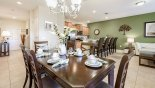 View of dining area showing entrance hallway - www.iwantavilla.com is the best in Orlando vacation Villa rentals