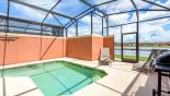 Sunny south facing plunge pool - www.iwantavilla.com is the best in Orlando vacation Villa rentals