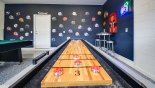 Villa rentals in Orlando, check out the NFL themed games room with pool table & shuffleboard game