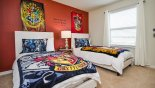 Villa rentals in Orlando, check out the Twin bedroom #4 with Harry Potter theming