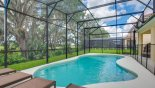 Spacious rental Solterra Resort Villa in Orlando complete with stunning View of south facing pool with conservation views