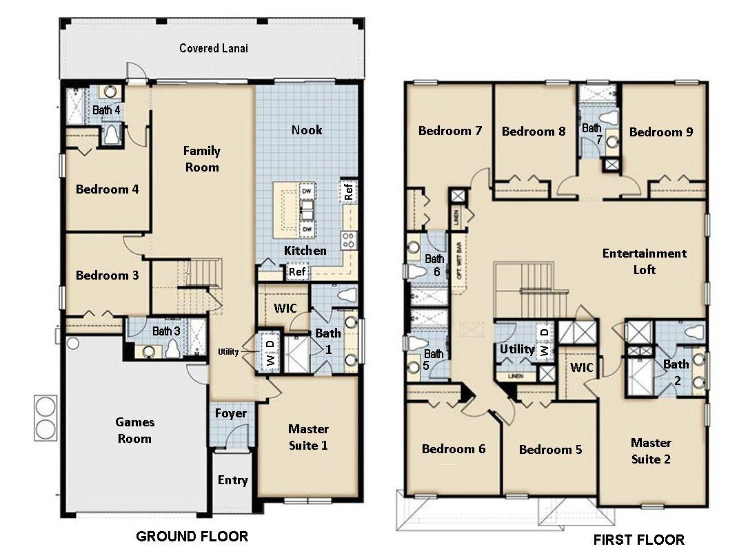 Monterey + 1 Floorplan