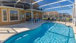 Large pool deck with 6 sun loungers from Birchwood 1 Villa for rent in Orlando