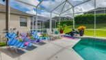 We provide 5 sun loungers for your sun bathing comfort - www.iwantavilla.com is the best in Orlando vacation Villa rentals